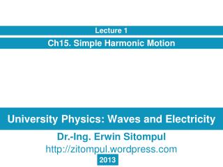 University Physics: Waves and Electricity