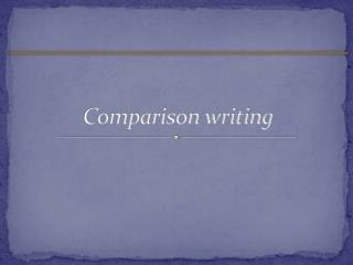Comparison writing