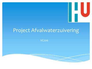 Project Afvalwaterzuivering
