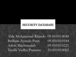 Security database