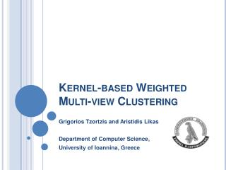 Kernel-based Weighted Multi-view Clustering