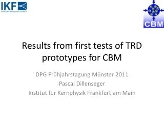 Results from first tests of TRD prototypes for CBM