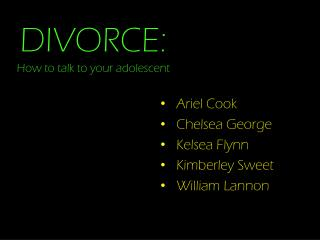 DIVORCE: How to talk to your adolescent
