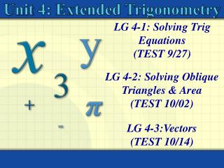 LG 4-1: Solving Trig Equations  (TEST 9/27)
