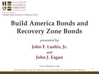 Build America Bonds and  Recovery Zone Bonds