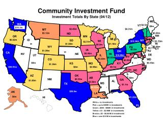 Community Investment Fund  Investment Totals By State  ( 04/12 )