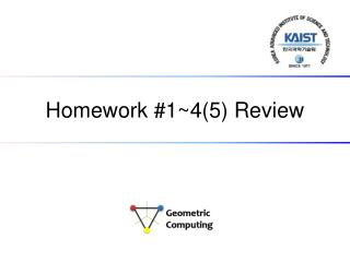 Homework # 1~4(5)  Review