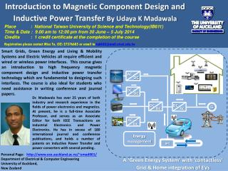 Introduction to Magnetic Component Design and Inductive Power  Transfer  By Udaya K Madawala