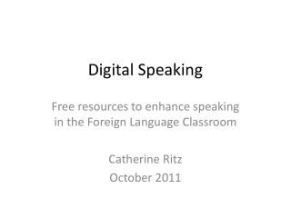 Digital Speaking