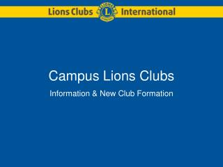 Campus Lions Clubs