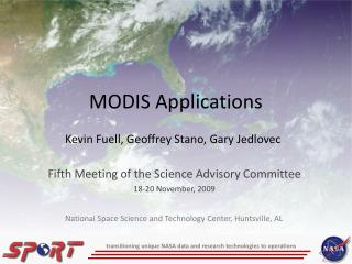 MODIS Applications