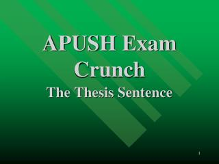 APUSH Exam Crunch