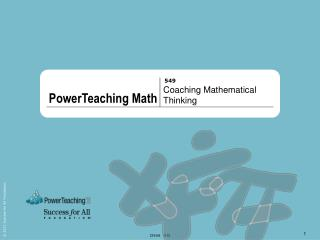 Coaching Mathematical Thinking