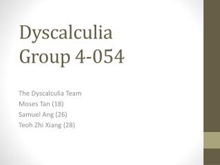 Dyscalculia Group 4-054