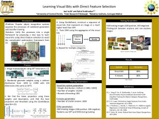 Learning Visual Bits with Direct Feature Selection Joel Jurik 1 and Rahul  Sukthankar 2,3