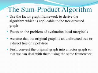 The Sum-Product Algorithm