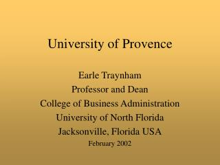 University of Provence