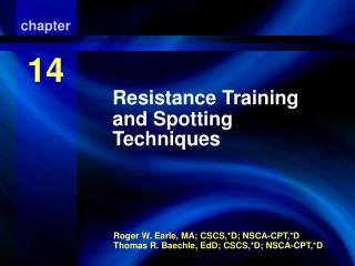 Resistance Training and Spotting Techniques