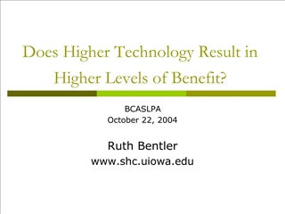 Does Higher Technology Result in Higher Levels of Benefit