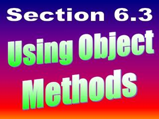 Using Object