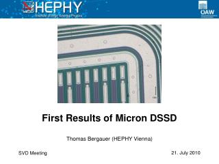 First Results of Micron DSSD