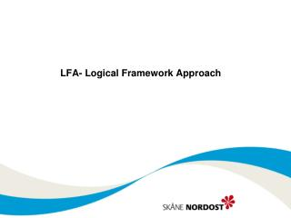 LFA-  Logical Framework  Approach