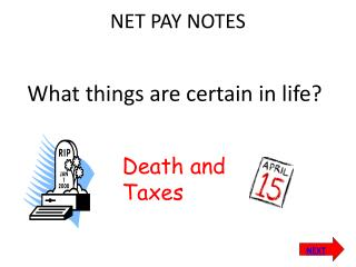 NET PAY NOTES