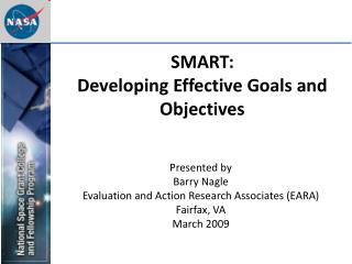 SMART:  Developing Effective Goals and Objectives