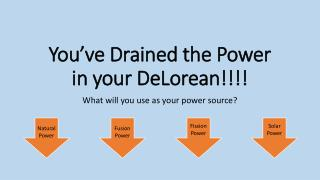 You've Drained the Power in your  DeLorean !!!!