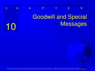 Goodwill and Special Messages