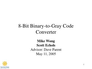 8-Bit Binary-to-Gray Code Converter