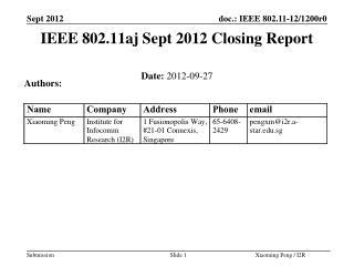 Date: 2012- 09-27