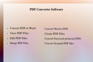 Unique PDF Professional Software
