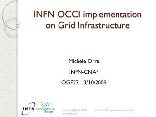 INFN OCCI implementation  on Grid Infrastructure