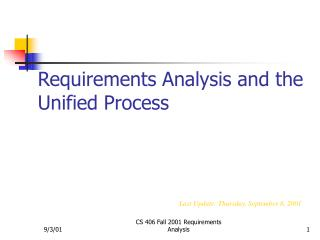 Requirements Analysis and the Unified Process