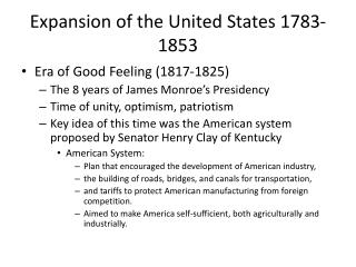 Expansion of the United States 1783-1853