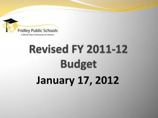 Revised FY 2011-12 Budget