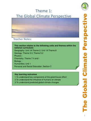 The Global Climate Perspective