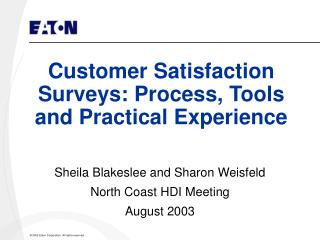 Customer Satisfaction Surveys: Process, Tools and Practical Experience
