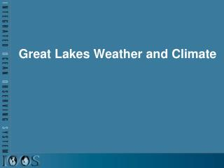 Great Lakes Weather and Climate