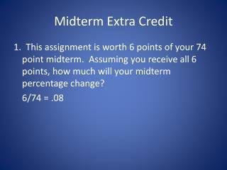 Midterm Extra Credit