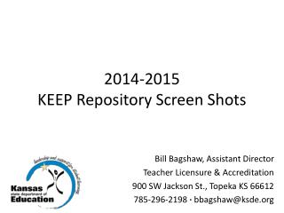 2014-2015 KEEP Repository Screen Shots