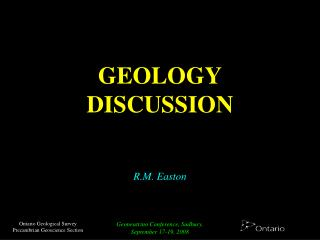 GEOLOGY DISCUSSION