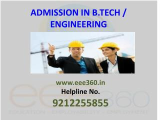 Admission in B.Tech