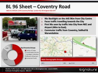BL 96 Sheet – Coventry Road