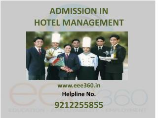 Admission in Hotel Management