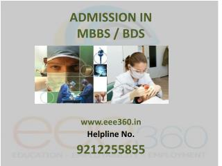 Admission in MBBS / BDS