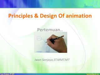 Principles & Design Of animation Pertemuan..