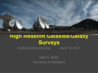 High  Redshift  Galaxies/Galaxy Surveys