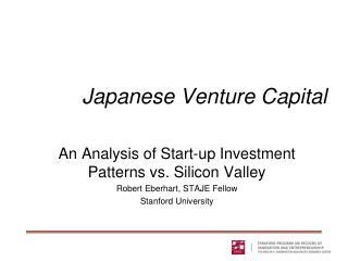 Japanese Venture Capital